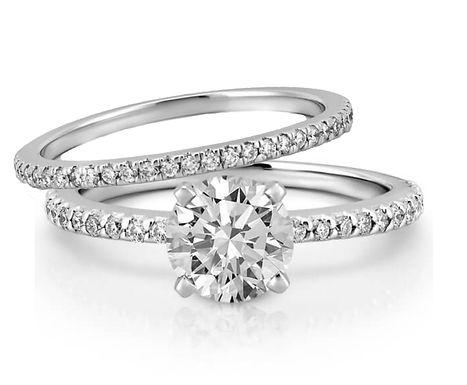 """DUO """"HEYLY"""", Bague diamant en oxyde de zirconium pour femme en argent 925"""