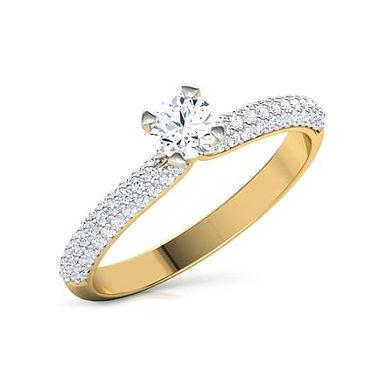 KATY, Bague Alliance Diamants mariage pour Femme Or 18 carats