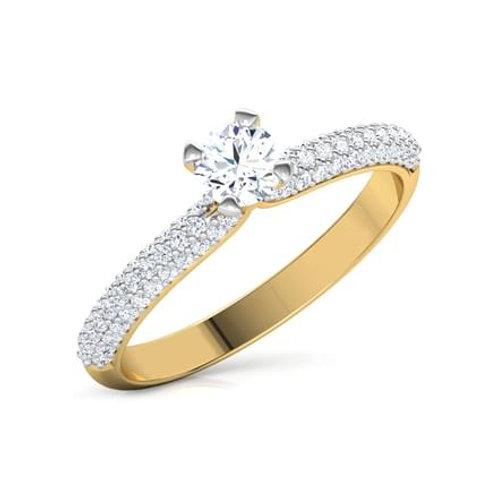 KATY, Bague Alliance Diamants mariage pour Femme Or Jaune 18 carats