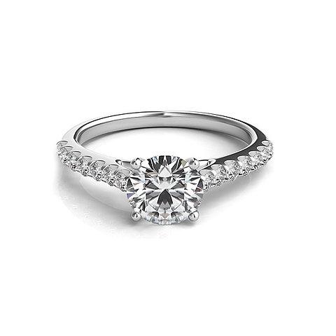 design de qualité 7aba9 51742 BELLA, Bague diamants Solitaire en oxyde de zirconium pour femme argent 925    GHAUM JOAILLERIE