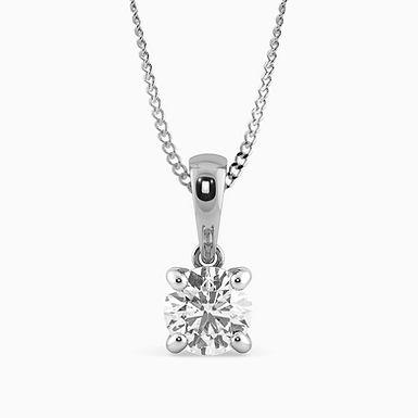 Solo, Pendentif Diamant Solitaire / F / SI / Or 18 carats