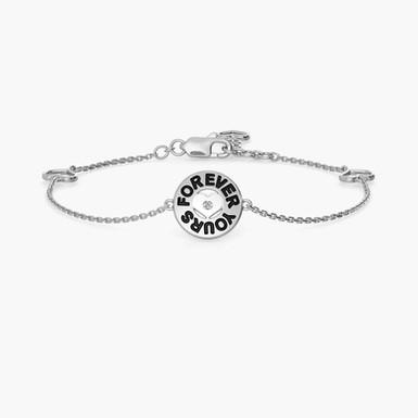 Forever Yours, Bracelet Or 18 carat serti d'un Brillant solitaire