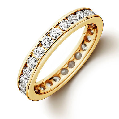 COURONNE, Bague diamant en oxyde de zirconium pour femme plaqué or jaune