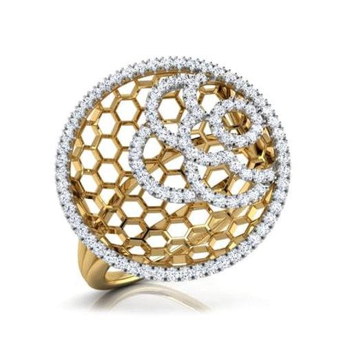 """Bague Alliance Diamants pour Femme """"Alycia"""" Or Jaune 18K 750°"""