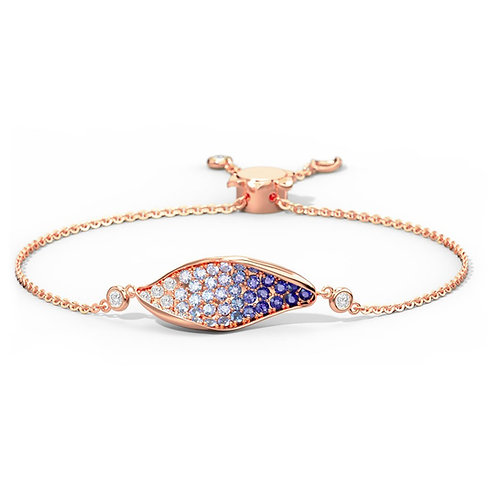 Wave, Bracelet Or Jaune 18 carat serti de Diamants et Pierres Précieuses