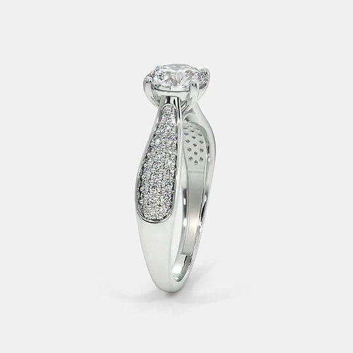 Soltya by GHAUM, Bague Diamant Solitaire Or Blanc 18 carats