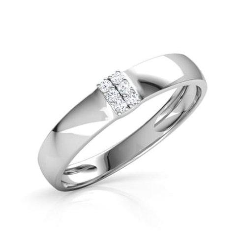 GABY, Bague Alliance Diamants mariage pour Femme Or Blanc 18 carats 750°