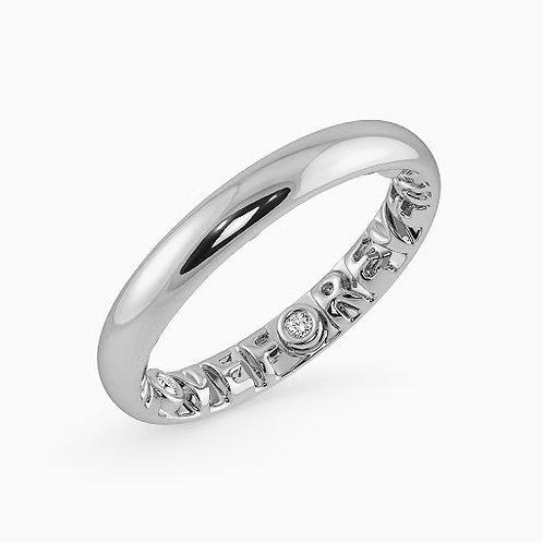 LOVE-FOREVER, Bague Alliance Diamants Or 18 carats