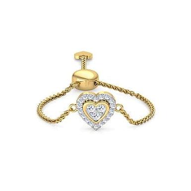 LOVE LINK-C, Bague sertie de Diamants Or 18 carats