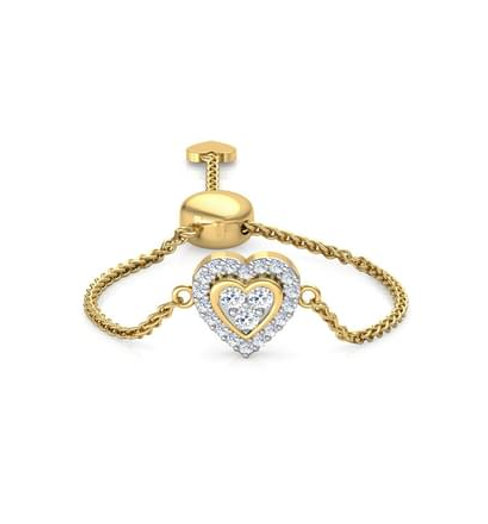 LOVE LINK-C, Bague sertie de Diamants Or 18 carats