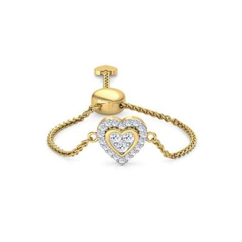 LOVE LINK-C, Bague sertie de Diamants Or Jaune 18 carats