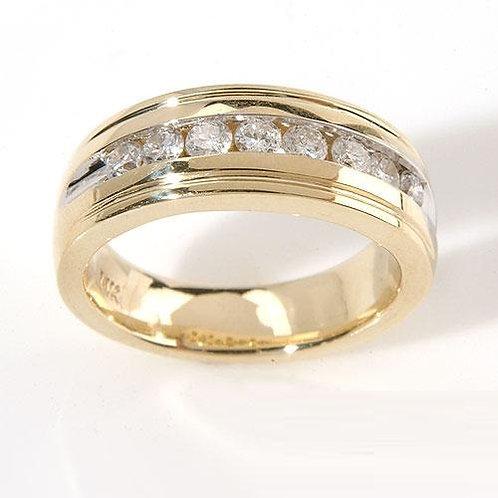 Bague Alliance Diamants pour Femme Diana Or Jaune 18K 750°