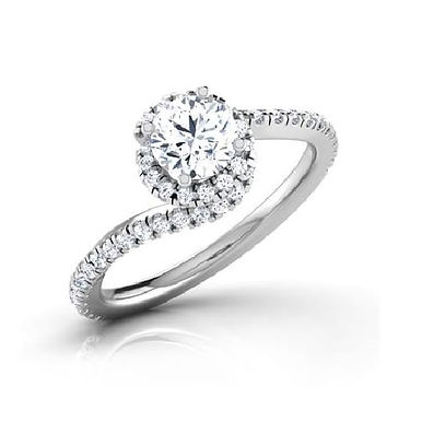 ALINA, Bague Diamant Joaillerie pour Femme Or Blanc 18K 750° d'Or Fin