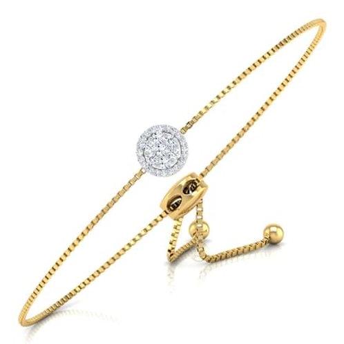 Arielle, bracelet diamants pour femme or jaune 18 carats