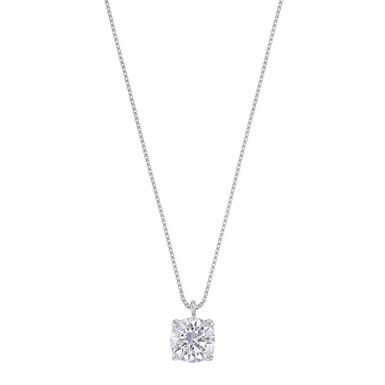 Le Classic, collier pendentif diamant solitaire I / VS2 pour femme Or 18 Carats