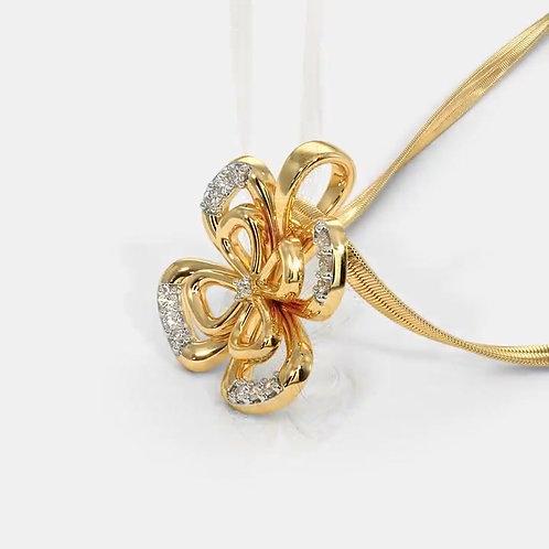 PAPILLON, pendentif diamants pour femme Or Jaune 18 carats
