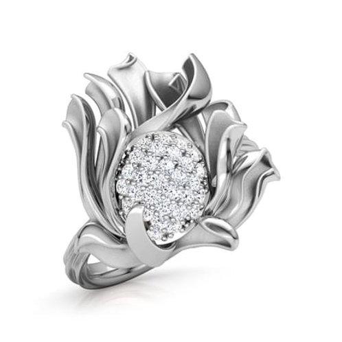 FLORENCE, Bague Diamants pour Femme Or Blanc 18 carats - Collection Charme