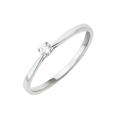 Classiq1, Bague Diamant Solitaire Or Blanc 18 carats