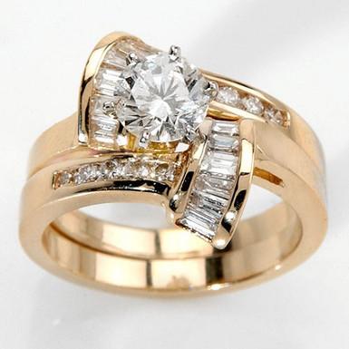 """Duo """"U&Me"""" Bagues Diamants et Solitaire pour Femme Or 18 carats"""
