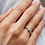 Thumbnail: Duo bague diamants et solitaire en oxyde de zirconium plaqué or jaune