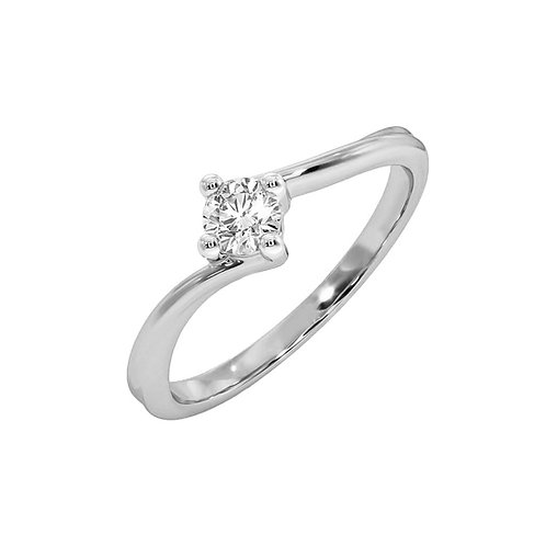Fabe, Bague Diamant Solitaire Or Blanc 18 carats
