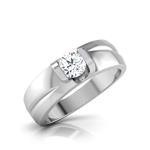 MR&MME, Bague Alliance Diamant Solitaire Homme ou Femme Or Blanc 18 carats