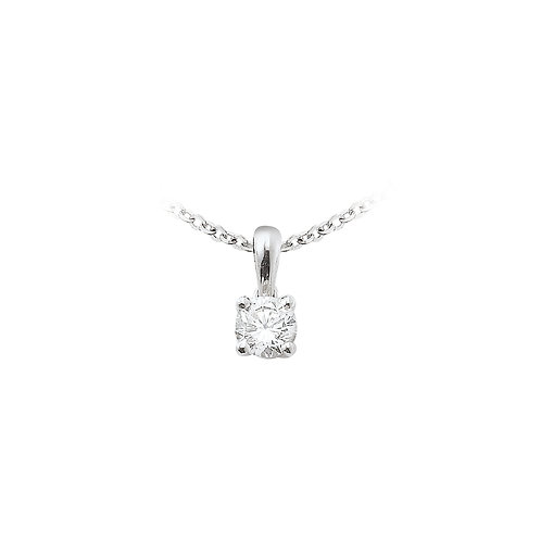 OneLoveYou, Pendentif Diamant Solitaire 0.27 ct Or Blanc 18 carats