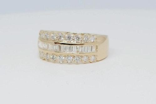 HAMPTON, Bague Diamants Joaillerie pour Femme Or Jaune 18 carats