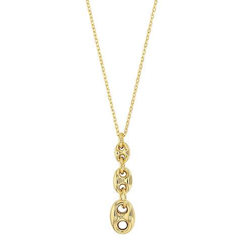"""Collier """"Trio"""" argent 925° rhodié or jaune pour femme"""