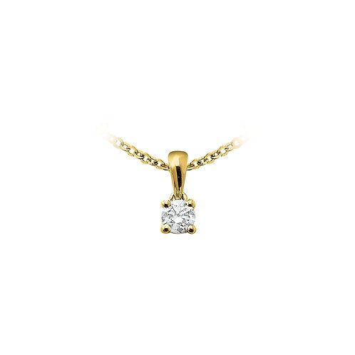 OneLove, Pendentif Diamant Solitaire 0.18 ct Or Jaune 18 carats