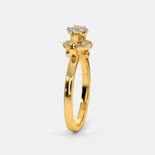 Bague Diamant Solitaire Or Jaune 18 carats, Alice