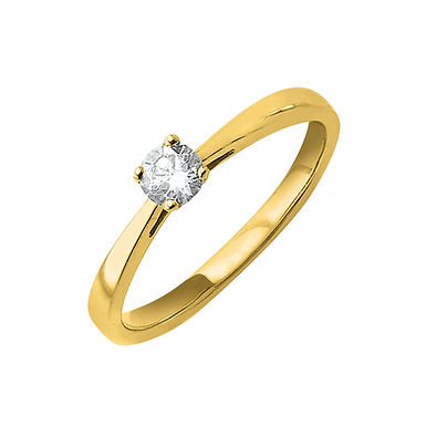 Foryou, Bague Diamant Solitaire Or Jaune 18 carats