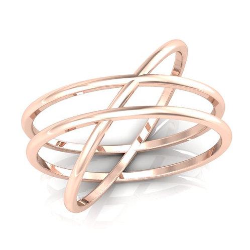 AUDACE, Bague alliance pour femme or rose 18 carats