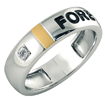 Bague Alliance Diamant HF Or Bicolore 18 carats, Forever
