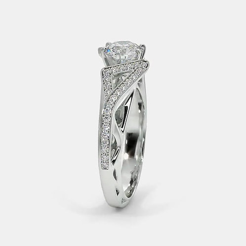 Darling de Ghaum, Bague Diamant Solitaire Or Blanc 18 carats