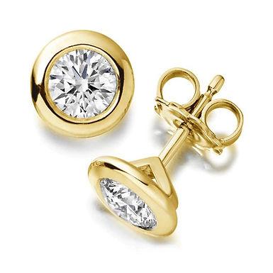 So Clos, Boucles d'Oreilles Diamant Solitaire 1,50 cts Or 18 carats