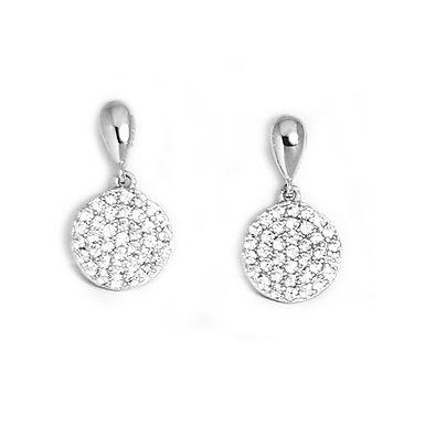 ANNA, Boucles d'Oreilles diamant en oxyde de zirconium pour femme argent 925