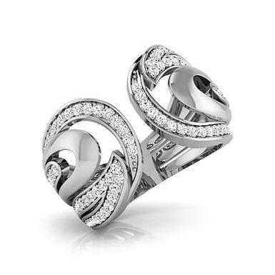 DEMI-LUNE, Bague Alliance Diamant Joaillerie pour Femme Or 18 carats