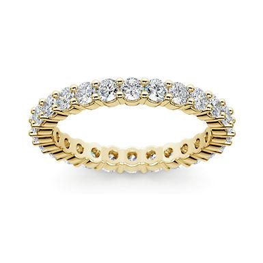 ETERNITY-PL, Bague diamant en oxyde de zirconium pour femme plaqué or jaune