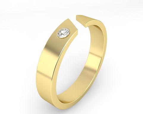 ARTHUR, Bague Alliance Diamant Solitaire Homme Or 18 carats