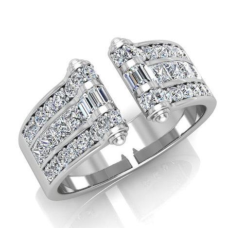 VENDOME ROYALE, Bague Diamants Joaillerie pour Femme Or Blanc 18 carats