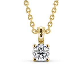 pendentif diamant solitaire or 18 carat