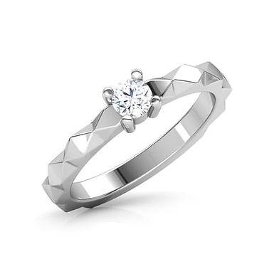 MyLady, Bague Alliance Diamant Solitaire pour Femme Platine