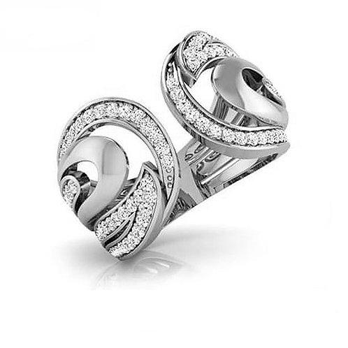 DEMILUNE FbyG, Bague Diamant Joaillerie pour Femme Or Blanc 18 carats