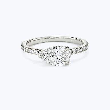Lovy Bloom 2, Bague Diamant Solitaire / G / VS Or 18 carats