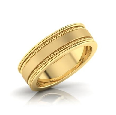 PARME, Bague Alliance Homme Or Jaune 18 carats