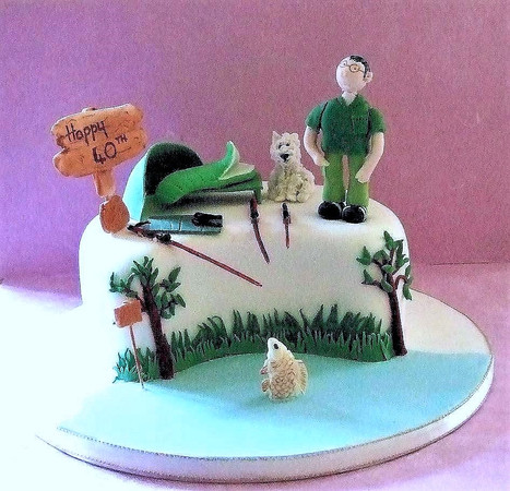Fishing cake with tent and dog.jpg