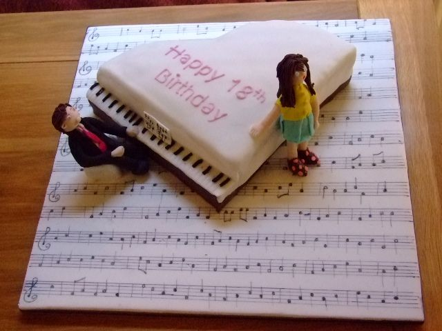 Piano 18th Birthday cake