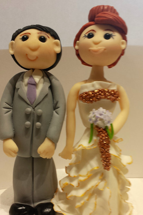 Bride & Groom personalised cake toppers