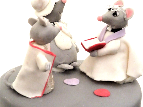 Customised mouse cake toppers